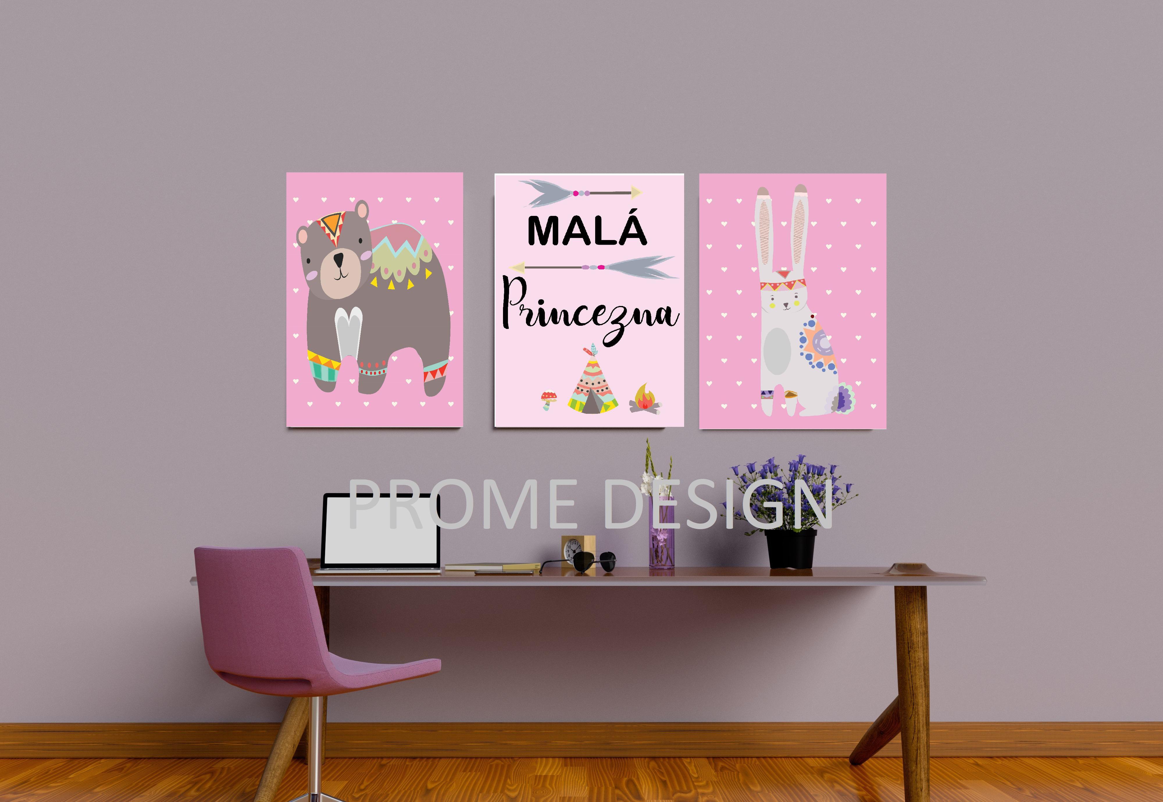 Plakát set - Boho zvířátka | Originální dekorace a ...