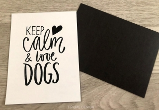 Magnetka - Keep calm & love dogs